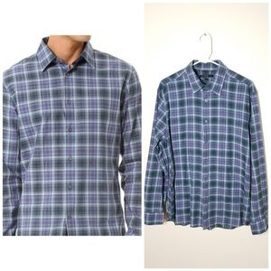 John Varvatos | lightweight plaid button down